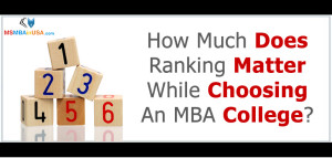 How Much Does Ranking Matter While Choosing An MBA College?