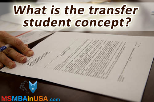 What is the Transfer Student Concept?