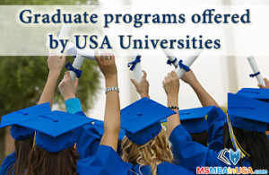 Graduate programs offered by USA Universities