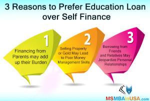 3 Reasons to Prefer Education Loan over Self Finance