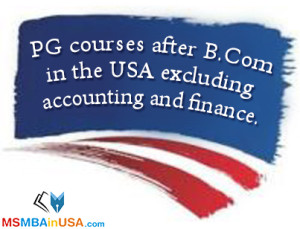PG courses after B.Com in the USA