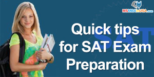 Quick tips for SAT Exam Preparation