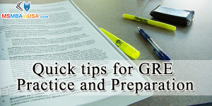 Quick tips for GRE practice and preparation
