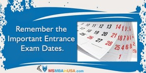 Remember the Important Entrance Exam Dates