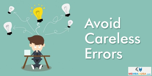 How to Avoid Careless Errors in Your GMAT?