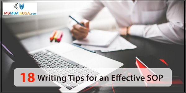 18 Writing tips for an Effective SOP